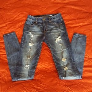 AEO high rise jegging.